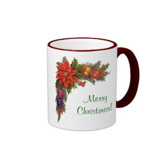 Pretty Christmas Wreath Mug