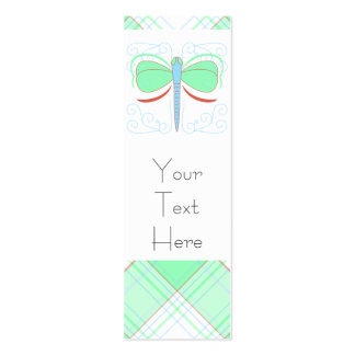 Pretty Cyan And Pink Dragonfly Bookmark Business Cards