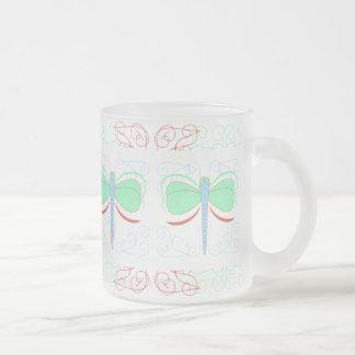 Pretty Cyan And Pink Dragonfly Mug