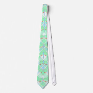 Pretty Cyan And Pink Dragonfly Neck Tie
