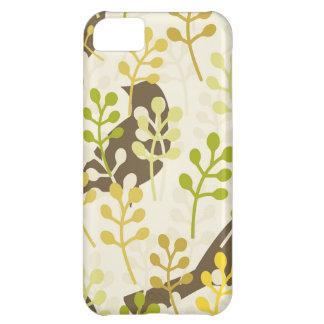 Pretty Elegant Birds in Leaf Treetops Pattern iPhone 5C Case