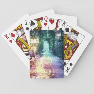 Pretty Fantasy Lantern Path Playing Cards