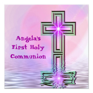 Pretty First Holy Communion Card