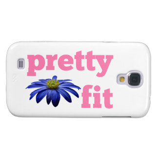 Pretty Fit with blue flower Galaxy S4 Case