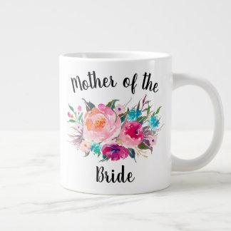 Pretty Floral Mother of the Bride Custom Jumbo Mug