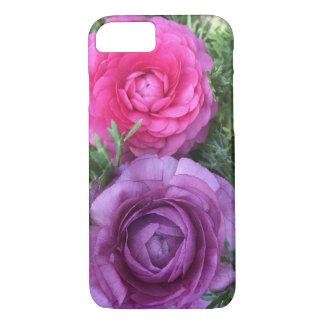 Pretty floral, pink & purple ranunculus blooms iPhone 8/7 case