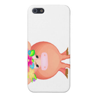 Pretty Flower Cow Vivid iPhone 5/5S Covers