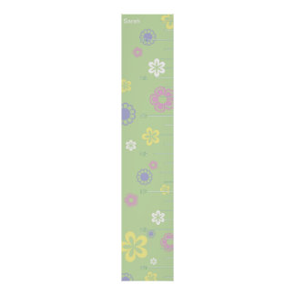 Pretty Flowers Growth Chart Poster