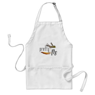 Pretty Fly, Funny Fishing Design (all colours) Standard Apron