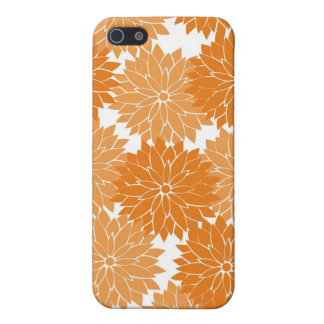 Pretty Girly Orange Flower Blossoms Floral Print iPhone 5 Case
