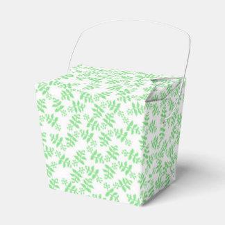 Pretty Green Floral Wedding Wedding Favour Box
