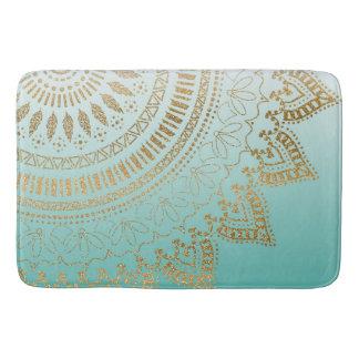 Pretty hand drawn tribal mandala elegant design bath mat