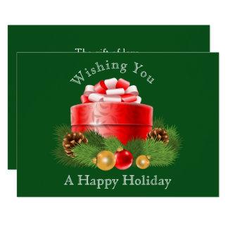 Pretty Holiday Gift Image Christmas/Holiday Card