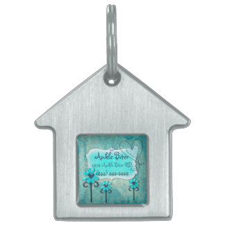 Pretty in Blue CUSTOM Name & Address Pet Tag