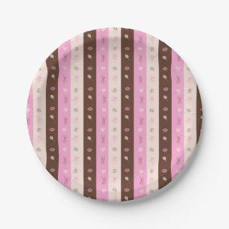 Pretty in Pattern Paper Plate