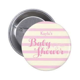 Pretty in Pink Baby Shower, 6 Cm Round Badge