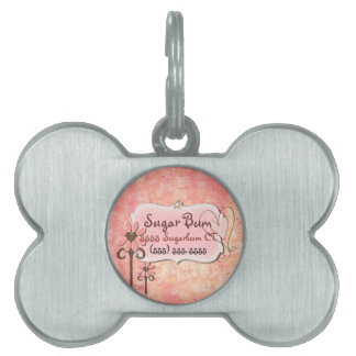 Pretty in Pink CUSTOM Name & Address Pet Name Tag