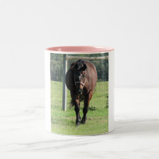 Pretty in Pink - Featuring 26 year old AQHA mare K Two-Tone Coffee Mug