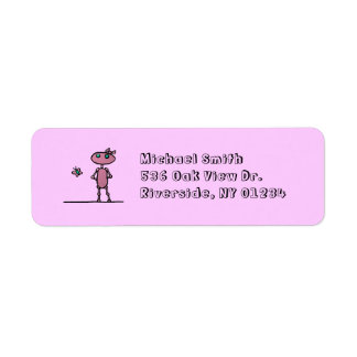 Pretty in Pink Personalized Return Address Labels