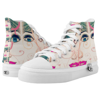 Pretty In Pink Shoes Printed Shoes