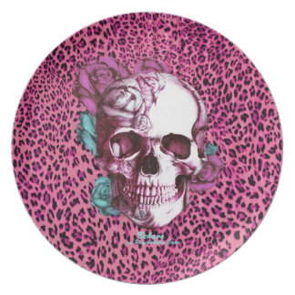 Pretty in Punk Shocking Leopard Products! thnx PJ Dinner Plate