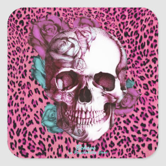 Pretty in Punk Shocking Leopard Products! thnx PJ Square Sticker
