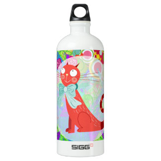 Pretty Kitty Crazy Cat Lady Vibrant Colorful SIGG Traveller 1.0L Water Bottle