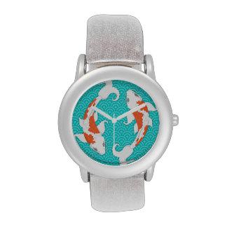 Pretty Koi - Orange and White Fish - Wrist Watch
