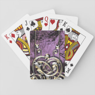 Pretty Lavender Grunge Fantasy Tribal Flourish Playing Cards