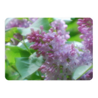 Pretty Lilacs 5x7 Paper Invitation Card
