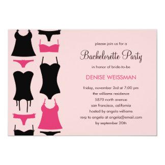 Pretty Lingerie Bachelorette Party Invitations