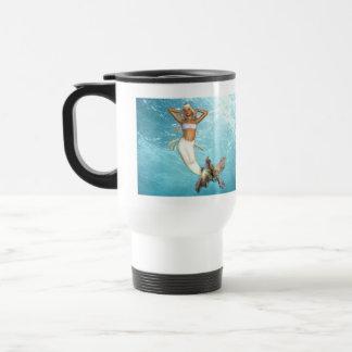 Pretty Mermaid Plastic Travel Mug