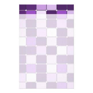 Pretty Mosaic Tile Pattern Purple Lilac Lavender Stationery