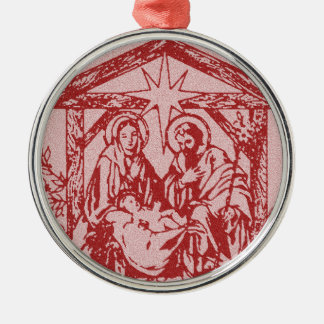 pretty nativity red outline_edited-1 christmas ornament