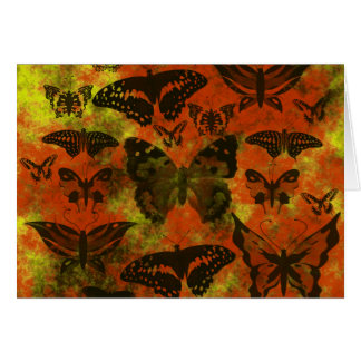 Pretty Orange and Yellow Butterflies Note Card