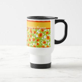 Pretty Orange Marigolds Travel Mug