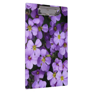 Pretty Pale Purple Flowers Clipboard