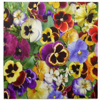 Pretty Pansies Napkin