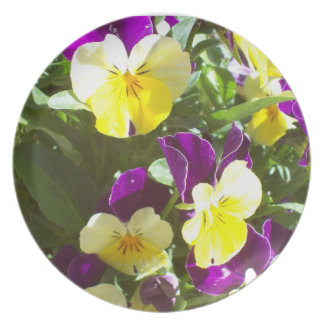 Pretty Pansies Plate
