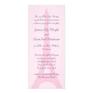 Pretty Paris Wedding Invitation