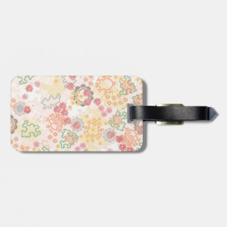 Pretty Pastel Watercolor Flowers Pattern Luggage Tag