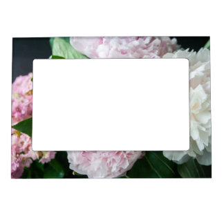 Pretty Peonies Pastel Bouquet Magnetic Photo Frames