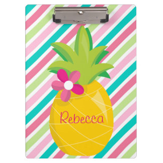 Pretty Pineapple Clipboard