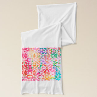 Pretty pink and blue patterned Scarf Wrap