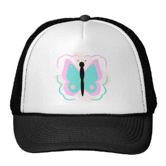 Pretty Pink And Cyan Butterfly Hat