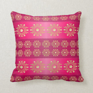 Pretty Pink and Gold Pattern Pillow