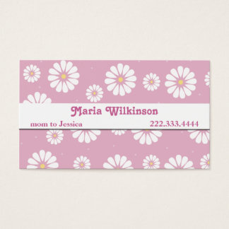 Pretty Pink and White Daisy Mommy Card