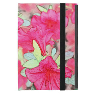 pretty pink azalea flowers. Floral garden plant ph Cover For iPad Mini