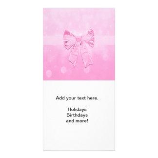 Pretty Pink Bow Photo Card
