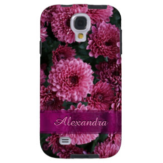 Pretty pink Chrysanthemum  flower personalized Galaxy S4 Case